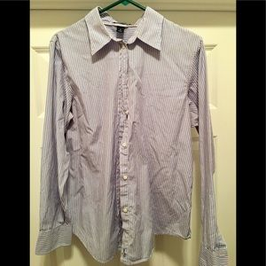 Gap Long Sleeve Striped Button Down Top 16